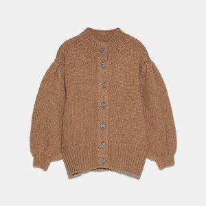 Zara Wool Sweater Jacket